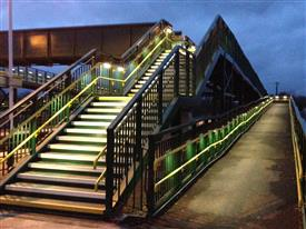 Saxilby Station Footbridge Lighting